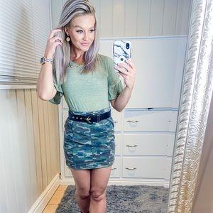 Free People Camo Skirt Size 4
